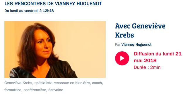 Viannet Huguenot France Bleu parle de Geneviève Krebs