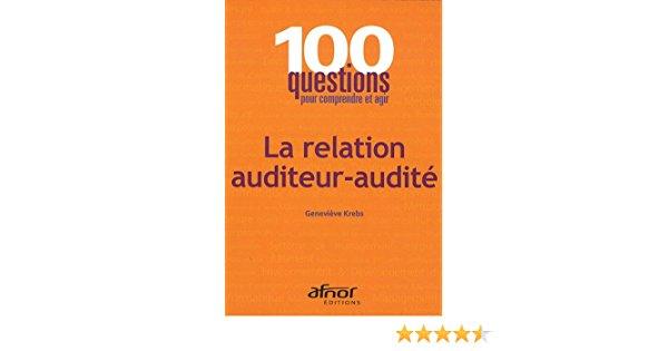 relation auditeur audité de Geneviève Krebs paru chez Afnor a remporté une mention au Prix du Livre Qualité et Performance à Paris
